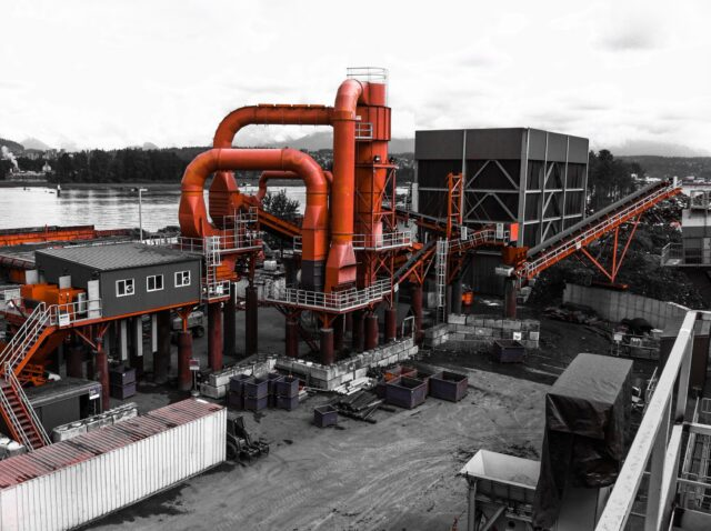 industrial recycling plant